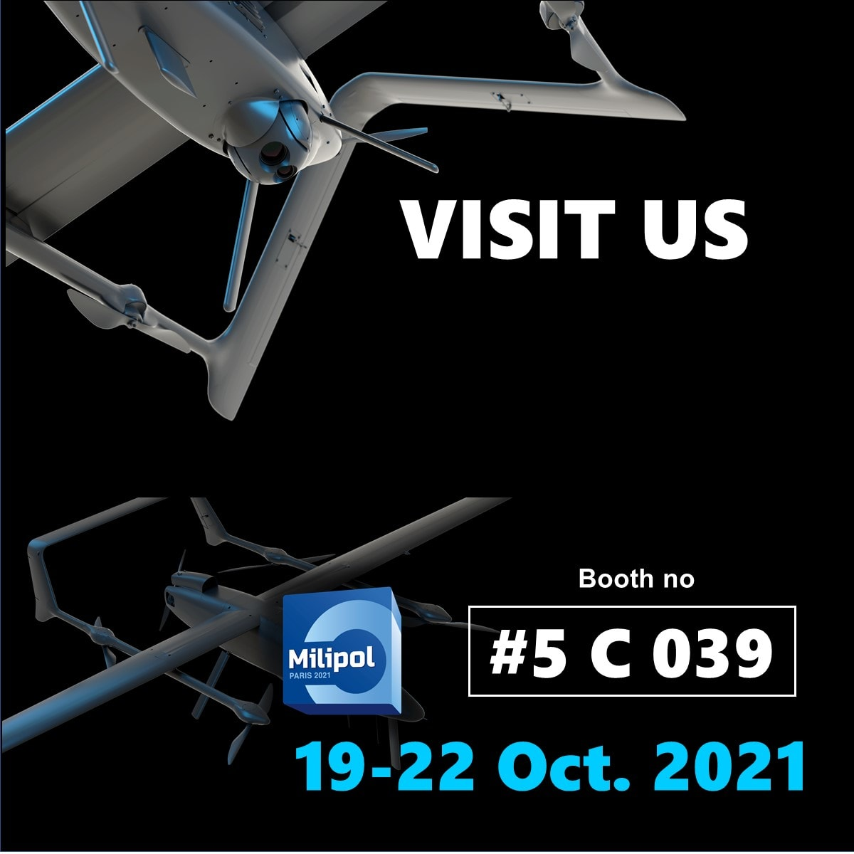 Read more about the article BlueBird exibiting at Milipol Paris 2021
